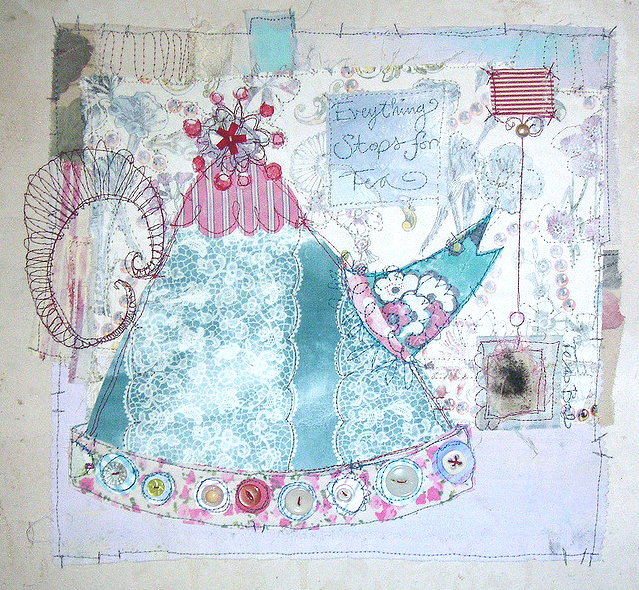teapot Fridays Fab Find: Priscilla Joness beautiful mixed media artwork