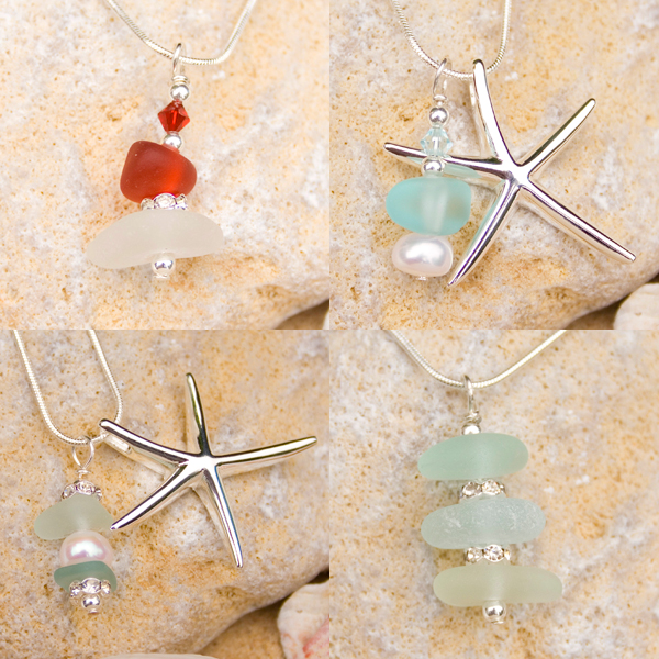 Coastal Sea Glass Jewellery group
