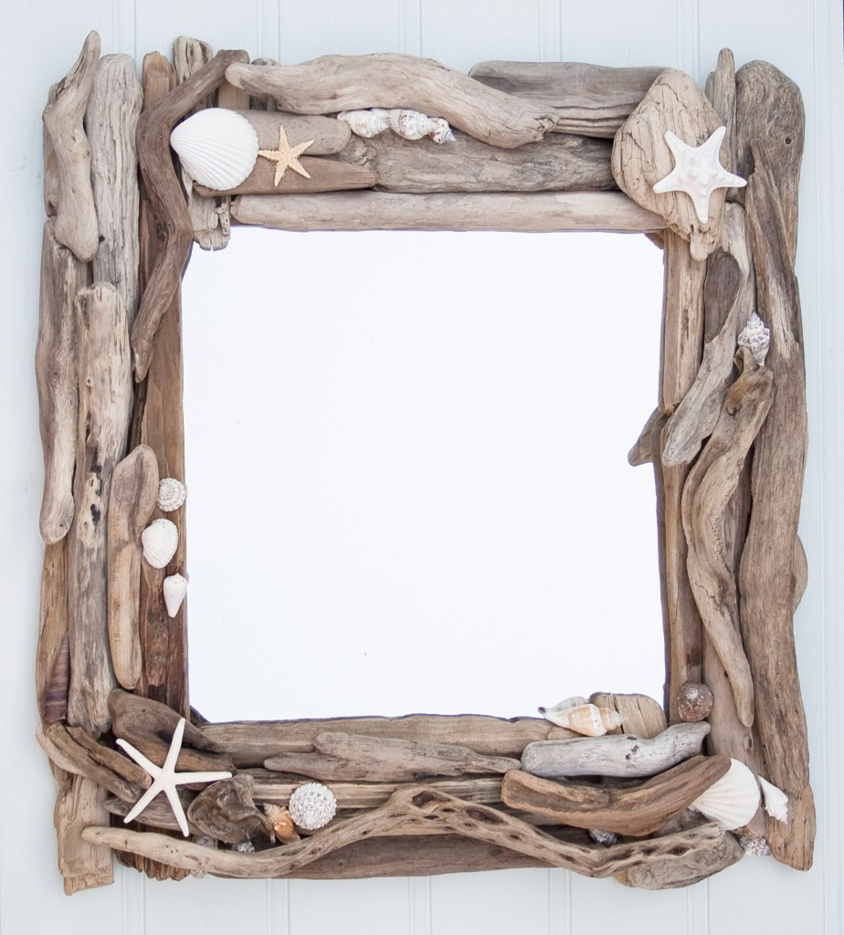 Driftwood & Sea shell mirror