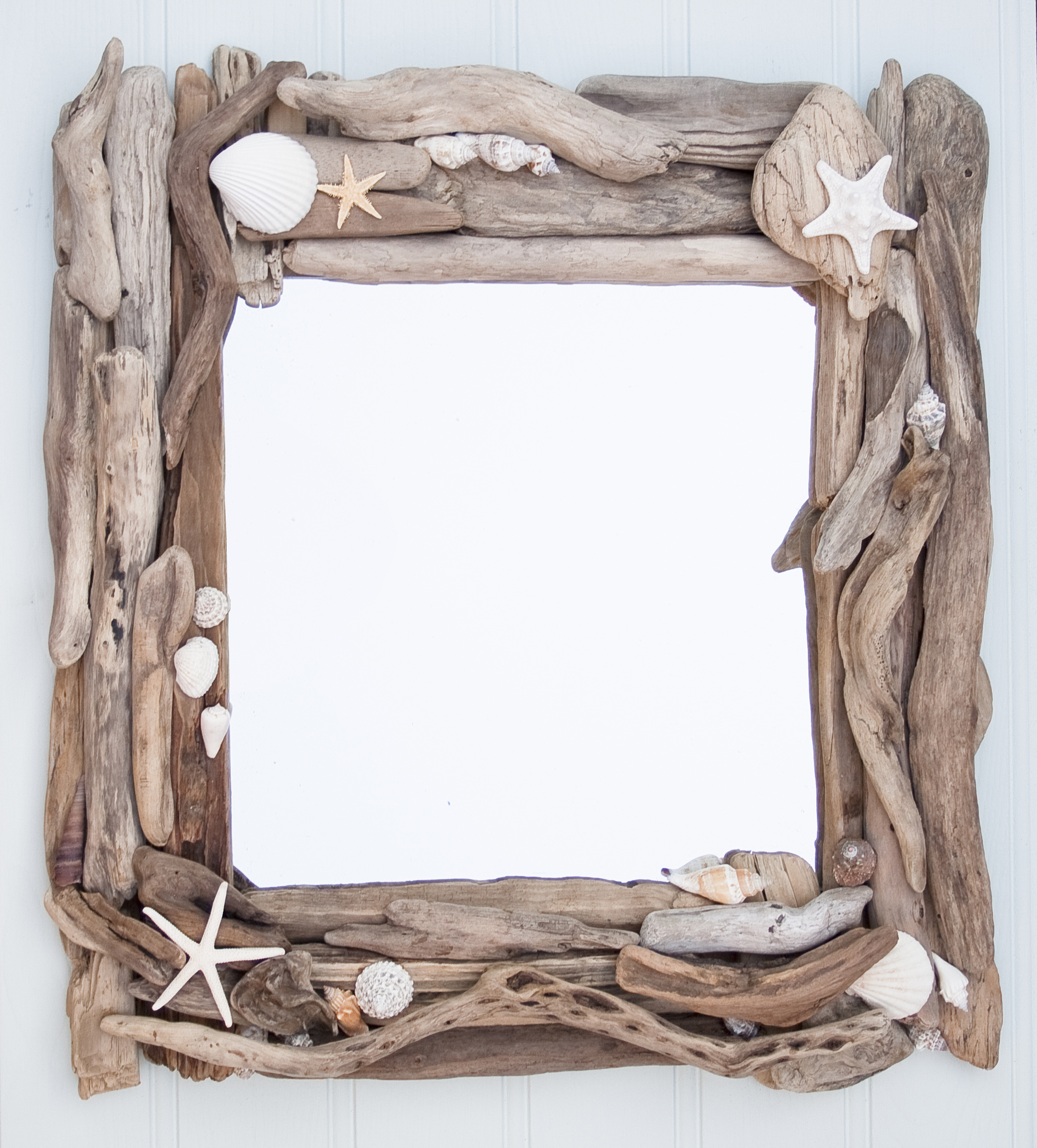 Driftwood And Sea Shell Mirror Driftwood Dreaming