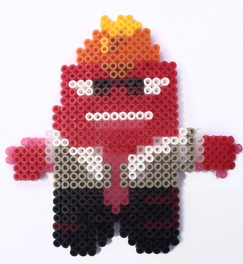 Disney Inside Out Hama Perler Bead patterns Anger
