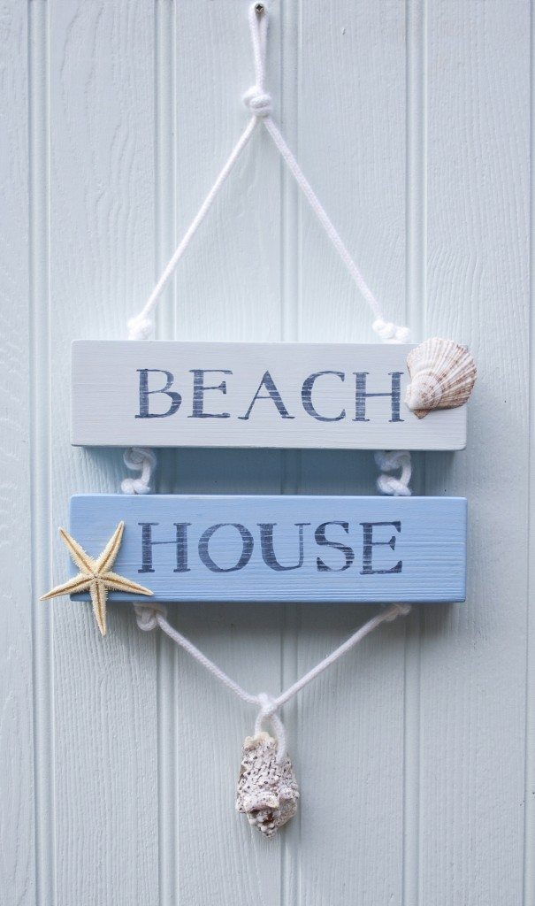 Coastal beach house sign