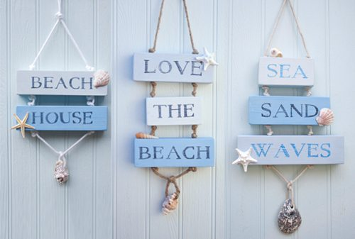 Coastal Beach House Decor Signs
