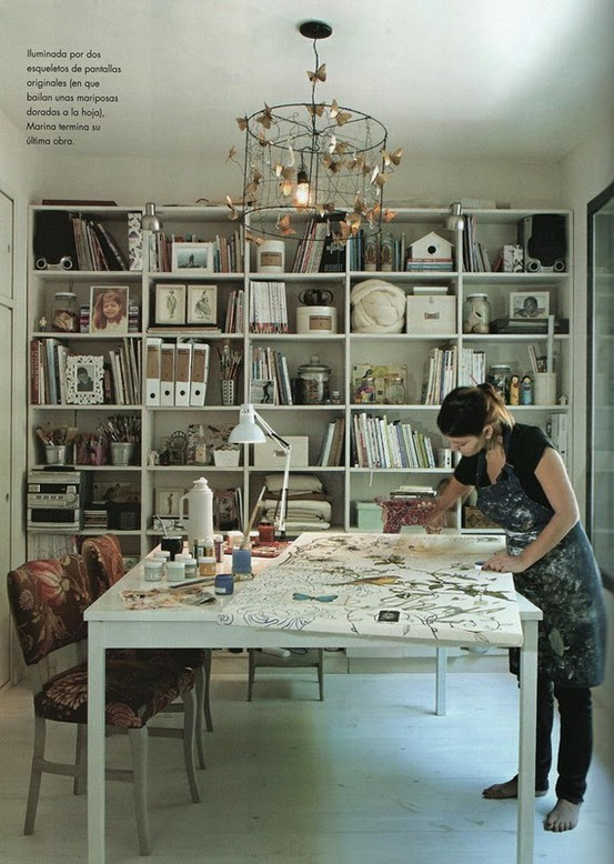 Craft room inspiration 4 driftwood dreaming for Office space inspiration