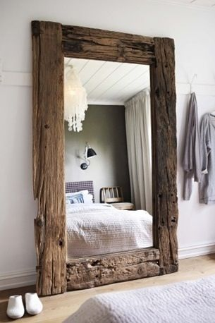 huge driftwood mirror