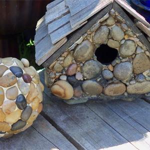 Pebble bird house