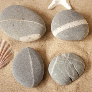 beach pebble fridge magnets