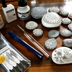 decorative painted stones