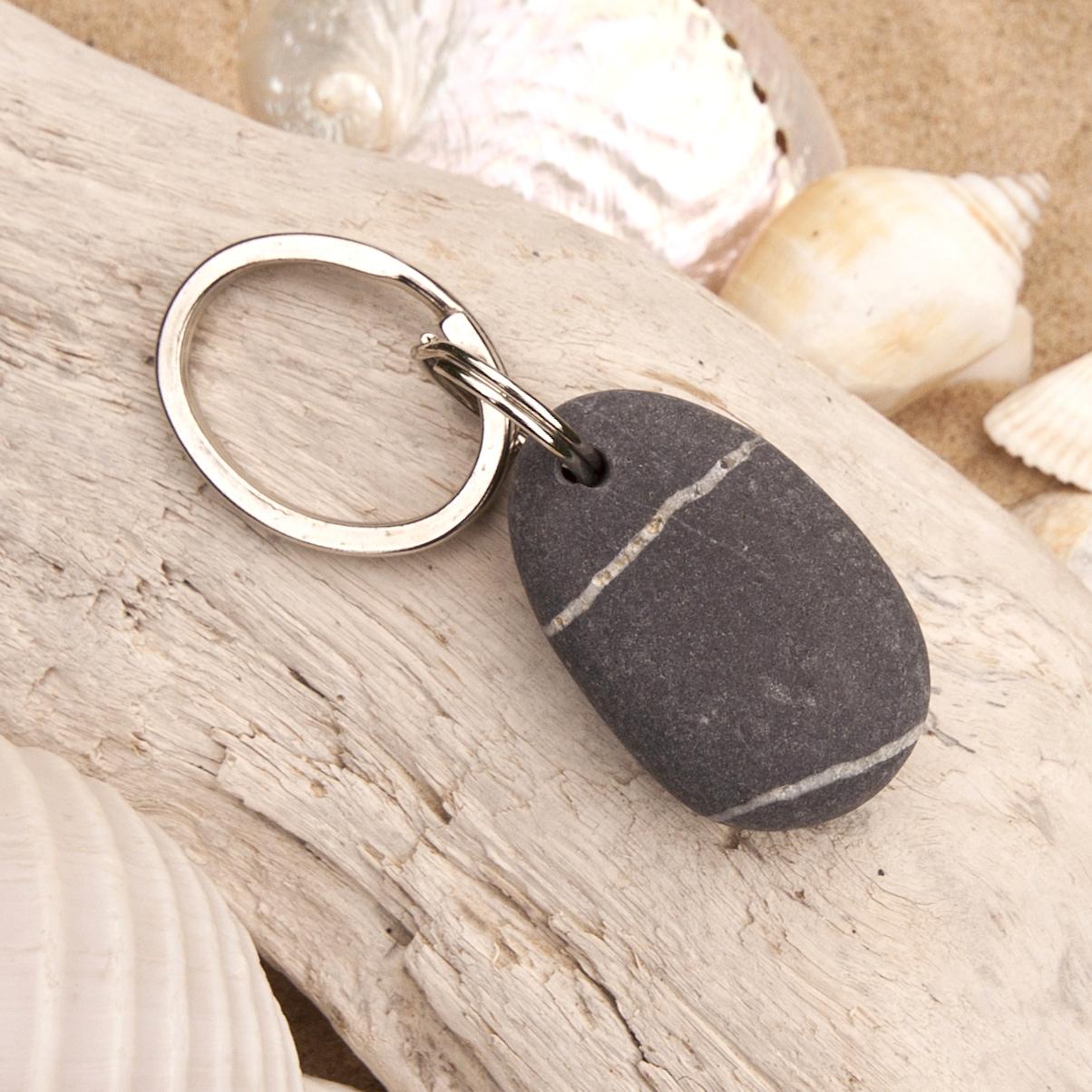 Beach Pebble Keyring 111-0096f