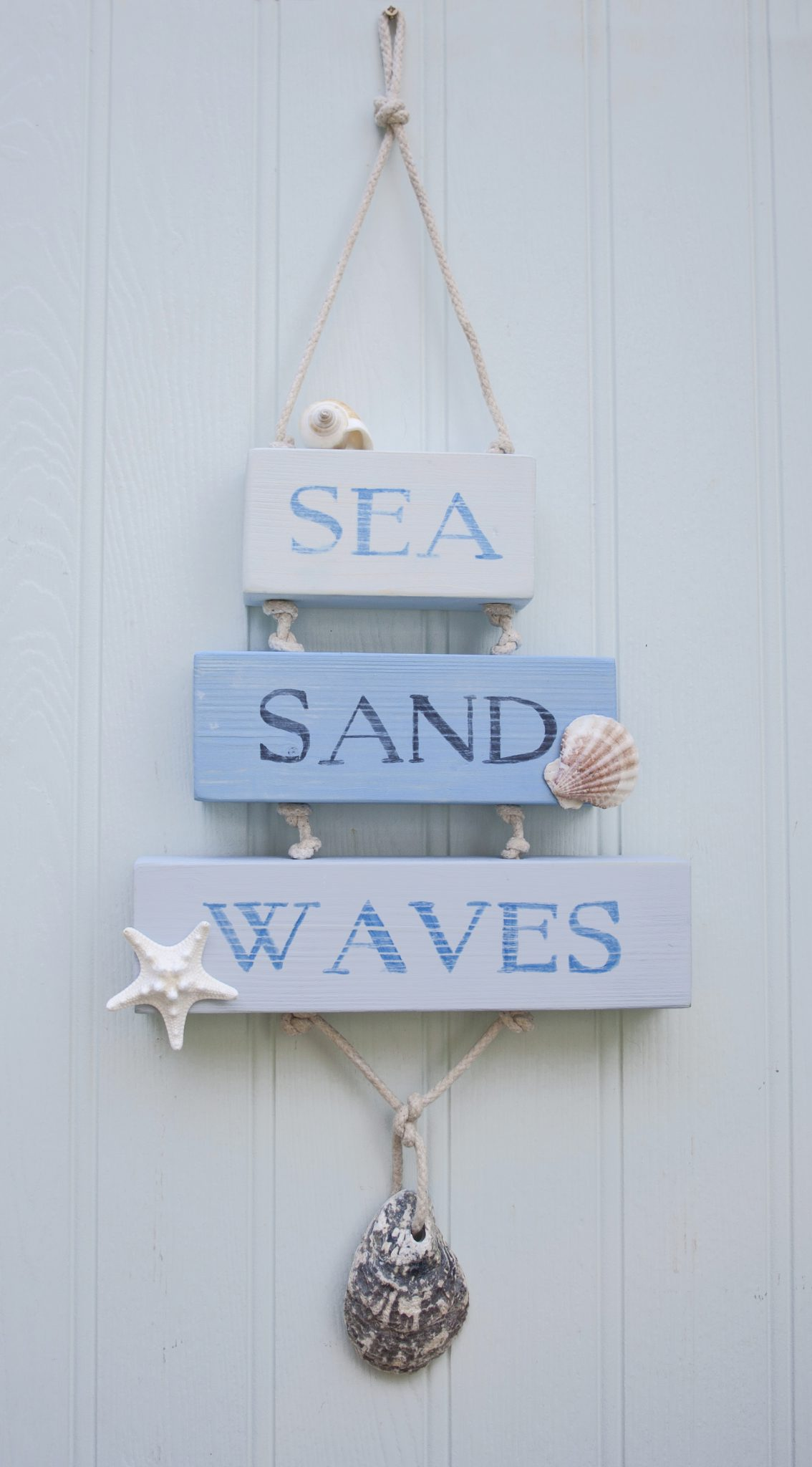 Sea Sand Waves coastal beach house sign
